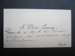 CARTE DE VISITE (M1611)  S. DRION LANNOY (2 Vues) CHATELET - Visiting Cards