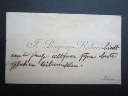 CARTE DE VISITE (M1611) F. PAQUAY - RUBENS (2 Vues) BILSEN - Visiting Cards