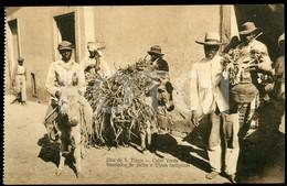 OLD POSTCARD STRAW SELLER SAO TIAGO CABO VERDE CAP VERT AFRICA AFRIQUE POSTAL CARTE POSTALE - Cap Vert