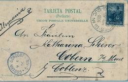 1906 , ARGENTINA , TARJETA POSTAL CIRCULADA , BUENOS AIRES - COBERN . GONDORF , LLEGADA, COLEGIO GUADALUPE - PALERMO - Argentina