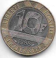 France 10 Francs 1988   Km 964.1  Unc - France