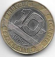 France 10 Francs 1989   Km 964.1  Xf+ - France