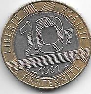 *france 10 Francs 1991   Km 964.1  Unc - France