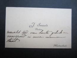 CARTE DE VISITE (M1611) J. SMEETS (2 Vues) PASTOOR - MARTENSLINDE - Visiting Cards