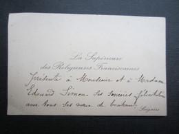 CARTE DE VISITE (M1611) LA SUPéRIEURE DES RELIGIEUSES FRANCISCAINES (2 Vues) SOIGNIES - Visiting Cards