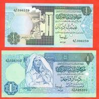 Libya 1991-93. 1/2 And 1 Dinar. UNC. Pick 58-59. - Libië