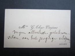 CARTE DE VISITE (M1611) Mme. G. THYS - VERJANS (2 Vues) BILSEN - Visiting Cards