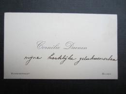 CARTE DE VISITE (M1611) CORNéLIE DAENEN (2 Vues) KORENSTRAAT - BILSEN - Visiting Cards