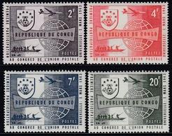 Congo (Kinshasa) 1963 - The 1st Participation In UPU Congress - Mi 104-107 ** MNH - Republiek Congo (1960-64)