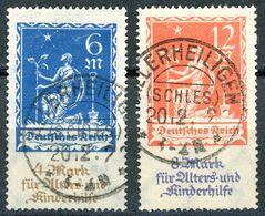 """Nr. 233 + 234 Vollstempel """"ALLERHEILIGEN"""" Geprüft INFLA - Michel 60 € - Deutschland"""