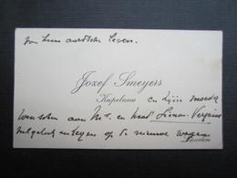 CARTE DE VISITE (M1611) JOSEF SMEYERS (2 Vues) KAPELAAN - LANDEN - Visiting Cards