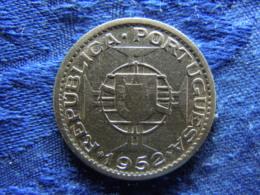 GUINEA BISSAU 10 ESCUDOS 1952, KM10 Scratched - Guinea-Bissau
