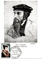 FRANCE. N°1420 Sur Carte Maximum De 1964. Jean Calvin. - Théologiens