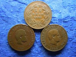PORTUGAL 20 REIS 1883 KM527, 1981, 1892 KM533 - Portugal