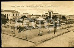 OLD POSTCARD PRAÇA DO ALBUQUERQUE SAO TIAGO CABO VERDE CAP VERT AFRICA AFRIQUE POSTAL CARTE POSTALE - Cap Vert