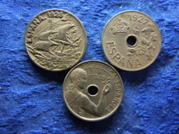 SPAIN 25 CENTIMOS 1925 KM740, 1927 KM742, 1934 KM751 - [ 1] …-1931 : Royaume