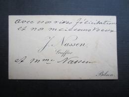 CARTE DE VISITE (M1611) J. NASSEN (2 Vues) GREFFIER - BILSEN - Visiting Cards
