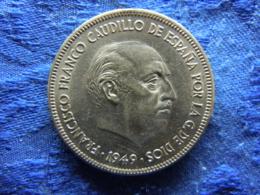 SPAIN 5 PESETAS 1949 (50), KM778 - [ 5] 1949-… : Royaume