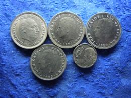 SPAIN 50 PESETAS 1957 (58) KM788, 1975(79) KM809, 1980 (80) KM819, 1983 KM825, 1997 KM985 - 50 Pesetas