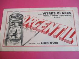 2 Buvards /Nickel , Chrome Et Argenterie/ ARGENTIL/ Produit Du LION NOIR / Brillant Liquide/ Vers 1940-1960    BUV328 - Wassen En Poetsen