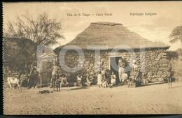 OLD POSTCARD NATIVES SAO TIAGO CABO VERDE CAP VERT AFRICA AFRIQUE POSTAL CARTE POSTALE - Cap Vert