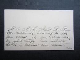 CARTE DE VISITE (M1611) Mr. & Mme. E. ANSLOT - DE RASSE (2 Vues) THUIN - Visiting Cards