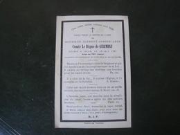 Image Pieuse Avis De Décès Clément Joseph Comte Le Bègue De Germiny 1881 - Décès