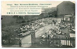 CPA - Carte Postale - Belgique - Liège - Emile Libois - Entrepreneur - Rue Herman-Reuleaux - 1919 (M7362) - Luik
