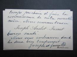 CARTE DE VISITE (M1611) JOSEPH ANSLOT - JUSNOT (2 Vues) ROMEDENNE - Visiting Cards