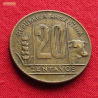 Argentina 20 Centavos 1950 KM# 42  Argentine - Argentine