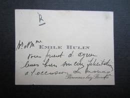 CARTE DE VISITE (M1611) EMILE HULIN (2 Vues) Péronnes Lez Binche - Visiting Cards