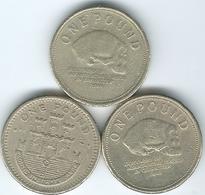 Gibraltar - Elizabeth II - 1 Pound - 2002 (KM869) 2007 (KM1091) 2012 (KM1105) - Gibraltar
