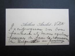 CARTE DE VISITE (M1611) ARTHUR ANSLOT (2 Vues) ROMEDENNE - Visiting Cards