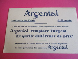Buvard /Orfèvrerie/Couverts De Table - Orfèvrerie/ ARGENTAL/ Remplace L'Argent / Vers 1940-1960    BUV329 - Blotters