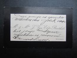 CARTE DE VISITE (M1611) Mr. & Mv. J. VAN ELST - BARTHELS (2 Vues) BILSEN - Visiting Cards