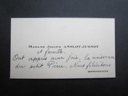 CARTE DE VISITE (M1611) Madame JOSEPH ANSLOT - JUSNOT (2 Vues) ROMEDENNE - Visiting Cards