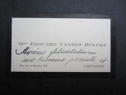 CARTE DE VISITE (M1611) Mme EDOUARD VANDEN BULCKE (2 Vues) Rue De La Station Cortenberg - Visiting Cards