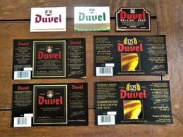 Lot Van 7 Stuks Etiketten  Ongebruikt  Van DUVEL  Brouwerij      Moortgat  Breendonk Belgie - Bière