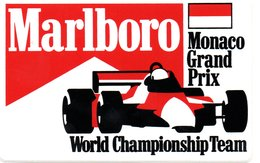 "MONACO -- AUTOCOLLANT Plastique GRAND PRIX    "" World Champioship Team "" - Voitures (Courses)"