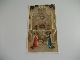 SANTINO HOLY PICTURE PREGHIERA A GESU' ANGELI - Religion & Esotérisme