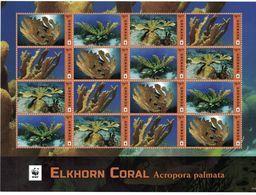 WWF W.W.F. Grenada MNH Perf Sheetlet 2016 : Elkhorn Coral / Marine Life - W.W.F.