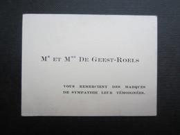 CARTE DE VISITE (M1611) Mr Et Mme DE GEEST - ROELS (2 Vues) - Visiting Cards