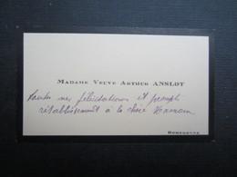 CARTE DE VISITE (M1611) MADAME VEUVE ARTHUR ANSLOT (2 Vues) ROMEDENNE - Visiting Cards