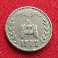 Algeria 1 Dinar 1972 KM# 104.1 Fao F.a.o.  Argelia Algerie - Algérie