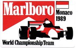 "MONACO -- AUTOCOLLANT Plastique -- MONACO 1989   "" World Champioship Team "" - Voitures (Courses)"