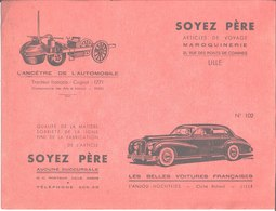 Maroquinerie Voyage Soyez Père Lille. Buvard N° 102. L'Anjou Hochtkiss Tracteur Français Cugnot - Buvards, Protège-cahiers Illustrés