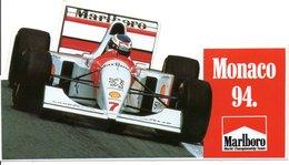 "MONACO -- AUTOCOLLANT STICKER Plastique -- MONACO 1994   "" Marlboro World Champioship Team "" - Voitures (Courses)"