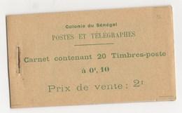 CARNET DE 20 TIMBRES N°4**SUPERBE - Senegal (1887-1944)