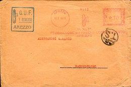 42768 Italia, Red Meter Freistempel Ema, 1939 Arezzo PNF Federazione Fasci Combattimento Arezzo - Machine Stamps (ATM)