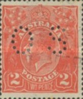 USED STAMPS - Australia - King George V - Postage Stamps Perforate OS  OFFICAIL STAMPS - 1913 - Officials